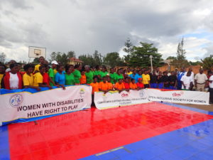 Group photo of CBM Women sitting Volleyball Participants