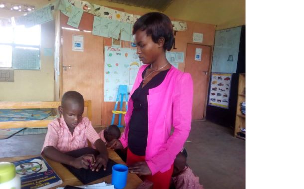 Success story from Education for All project : blind child can study regular and perform better